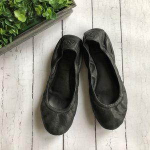 Tory Burch Eddie Black Leather Flats